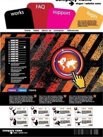 欧美时尚斜条装点过渡网页设计
