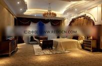 欧式高档别墅卧室装饰效果图