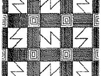 闪电形/方形/线条构成的连续图案图片
