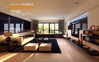 时尚大空间客厅3dmax模型