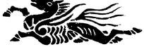 中国古典图案-长翅膀的飞奔的马
