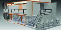 大型双层展厅设计效果图3D模型素材