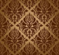 经典欧式华丽花纹背景矢量素材