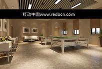 两张乒乓球桌的休闲室3dmax模型