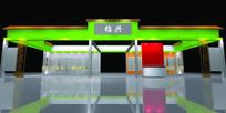 绿色豪华大气大型展厅设计效果图