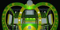 绿色心形个性展厅设计效果图3D模型下载