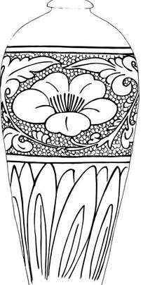 手绘陶瓷花瓶