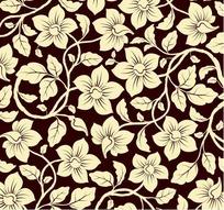 欧式华丽花纹壁纸矢量素材