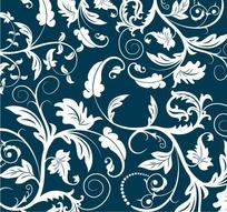 青花瓷花纹平铺矢量素材