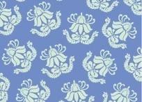 青花瓷花纹矢量素材