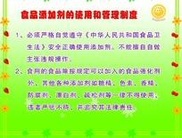食品添加剂的使用和管理制度展板