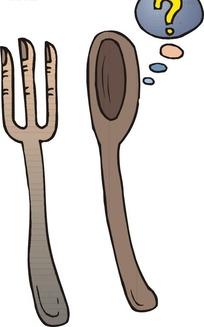 叉子和勺子在思考问题