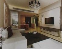 豪华主流客厅装饰效果图3D模板素材