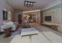 时尚大型客厅装饰效果图3D模板素材下载