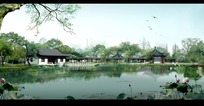 秀丽公园景观效果图PSD分层素材