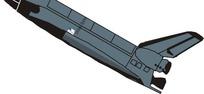 一部深灰色火箭矢量图片