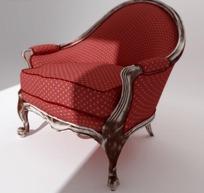 红色白点软靠椅