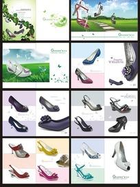 清新亮丽的女性高跟鞋介绍画册模板