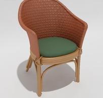 田园风格靠椅模型