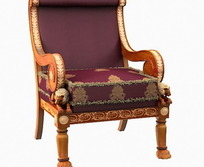 紫色贵气靠椅设计模型