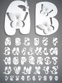 创意英文字母剪纸