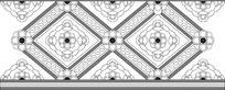 方形花纹二方连续图案