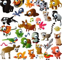 卡通动物世界
