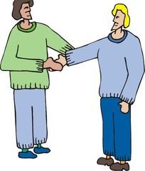 朋友见面握手