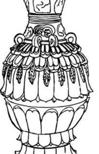 器皿简笔画-矢量莲花纹图片 矢量莲花纹设计素材