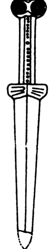 一把手绘古代匕首