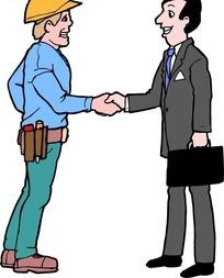 包工头和律师握手