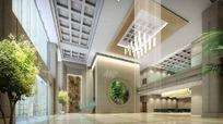 大型公司大厅3D效果图