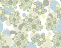 蜂巢形状背景图案