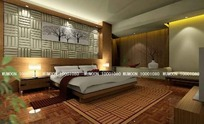 豪华精装卧室3D效果图