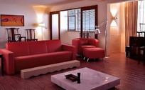 豪华暖色调客厅装饰设计效果图3D模板素材