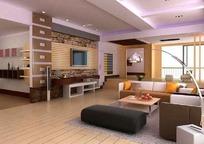豪华现代客厅装饰效果图3DMAX模型素材