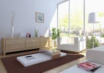简单客厅3D模型图