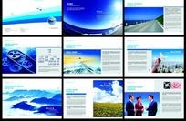 欧美公司形象宣传画册模版