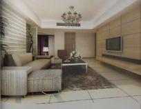 时尚简约风格客厅装饰效果图