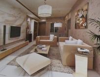 时尚唯美风格客厅装饰效果图3D模板素材