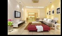 时尚唯美风格客厅装饰效果图