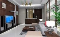 时尚现代客厅装饰设计效果图