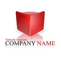 网络公司透明正方体创意形象标识设计素材图片