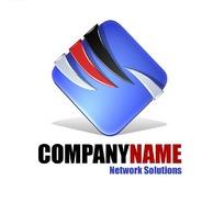 网络公司紫色45度正方体创意形象标识设计素材图片