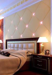 温馨典雅风格卧室装饰效果图3D模板素材