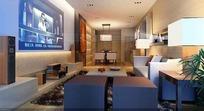 现代清装高档客厅3D效果图
