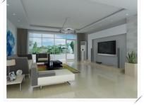 银灰色系时尚客厅3D效果图