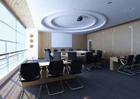 圆桌会议室3D效果图