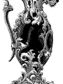 黑白磨砂效果欧式古典植物叶子花纹酒壶素材