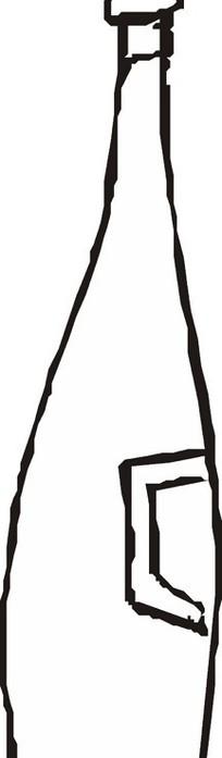 简笔画酒瓶